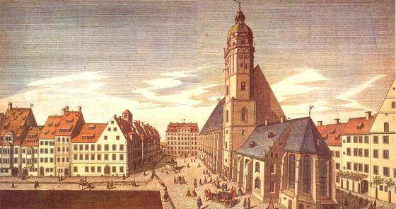 Santo Tomás de Leipzig a comienzos del siglo XVIII