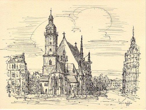 Thomaskirche en Leipzig